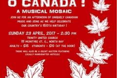 O Canada Poster red draft
